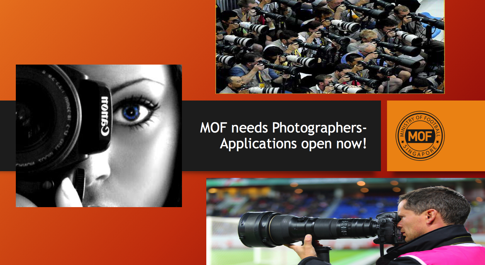 Referees & Photographers Needed – Work With Us !!!